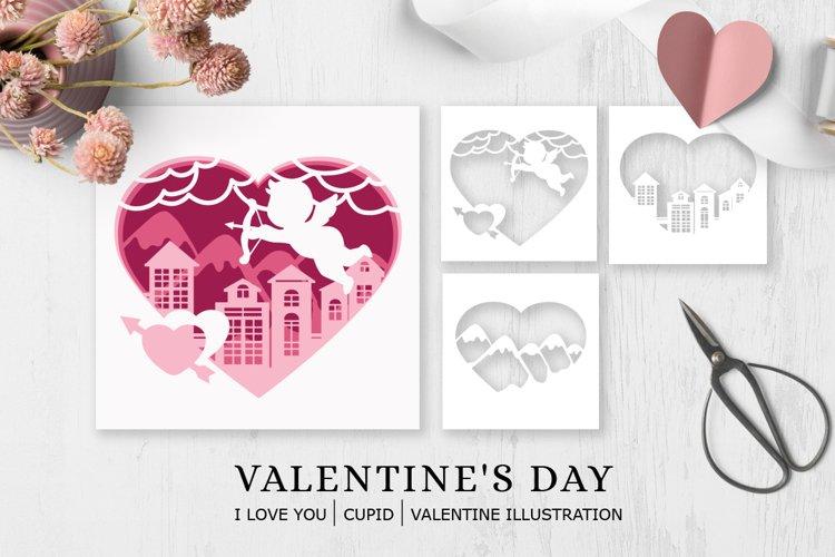 Valentines Day Cupid Illustration