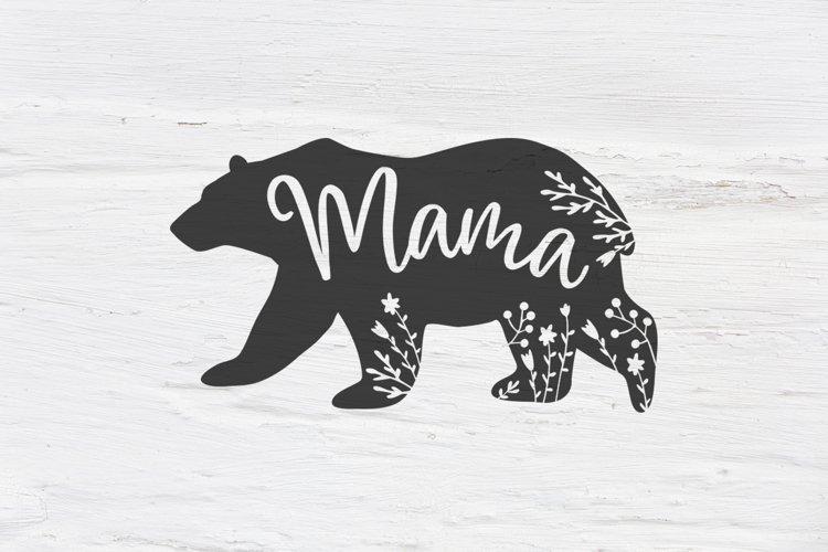 Mama bear , Floral bear SVG, EPS, PNG, DXF