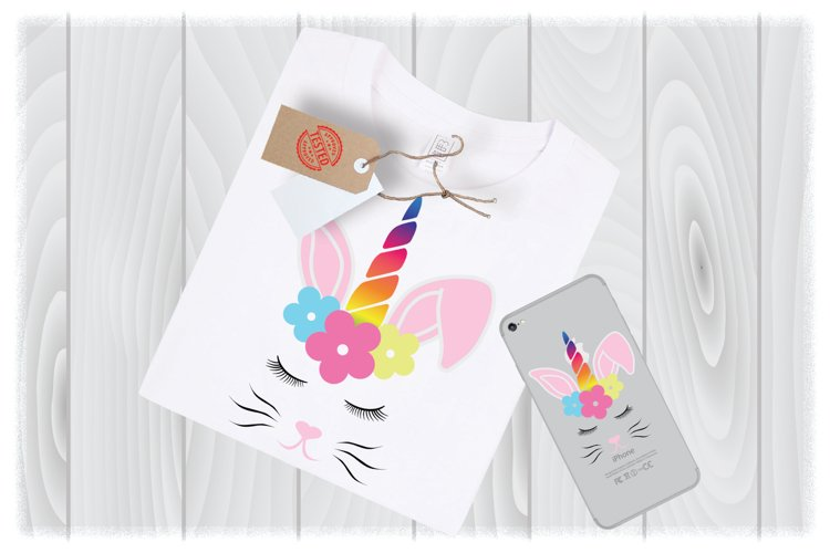 Unicorn Bunny SVG Files for Cricut Designs | Easter SVG File example image 1