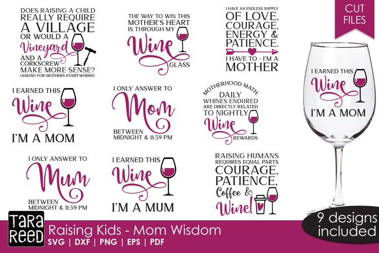 Raising Kids - Mom Wisdom - Family SVG and Cut Files