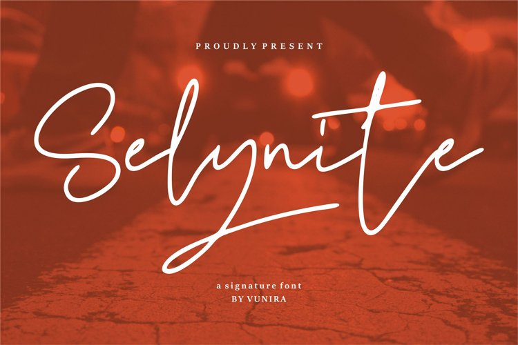 Selynite   A Signature Font