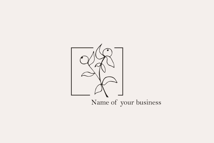 Logo design photography pure simple floral Botanical example image 1