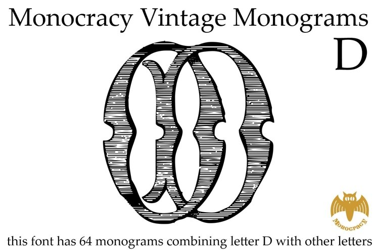 Monocracy Vintage Monograms D example image 1