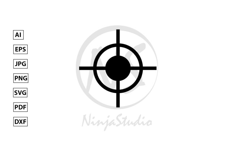 Target Icon In Flat Style Vector example image 1