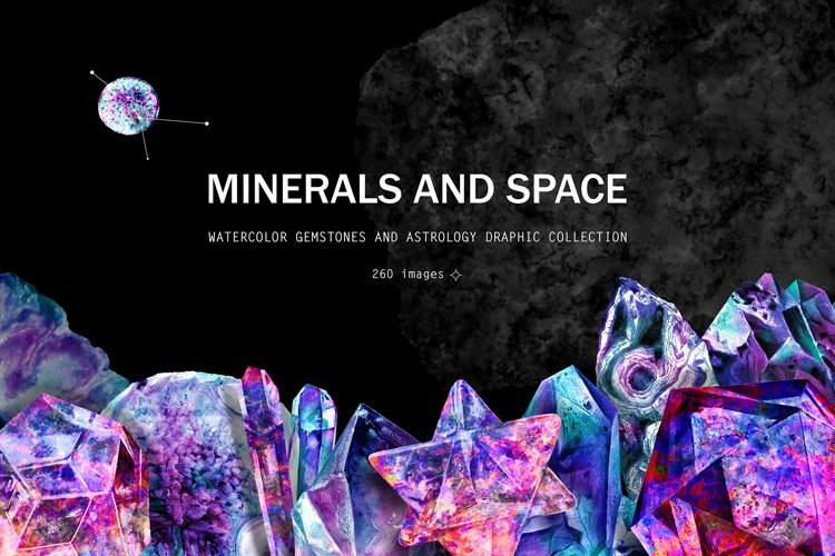Minerals and space. Astrology set example image 1