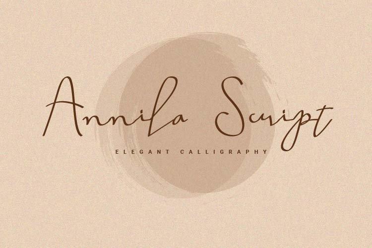 Annila Script example image 1