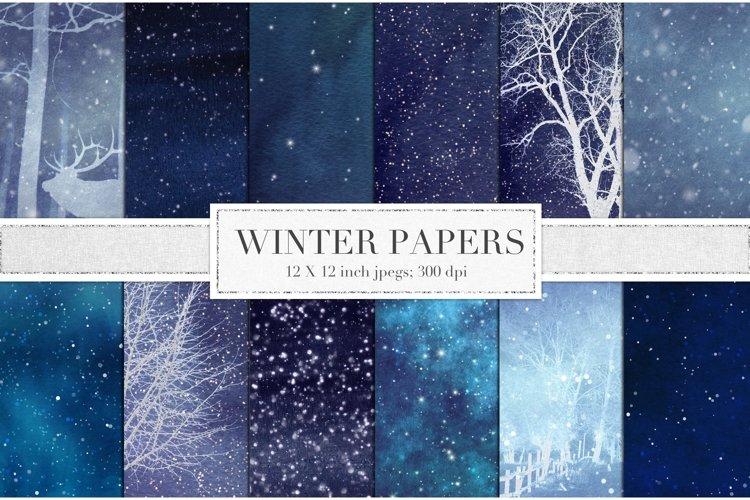 Winter digital paper example image 1