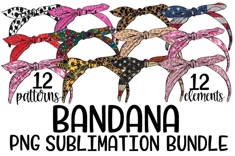 Bandana PNG Bundle -12 Elements - 12 Patterns
