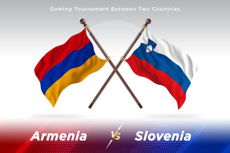Armenia versus Slovenia Two Flags example image 1