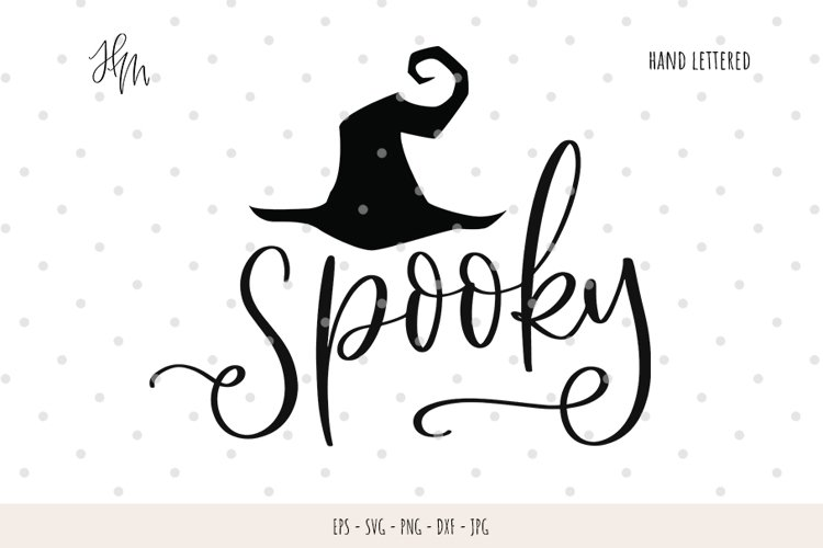 Spooky cut file SVG DXF EPS PNG JPG example image 1