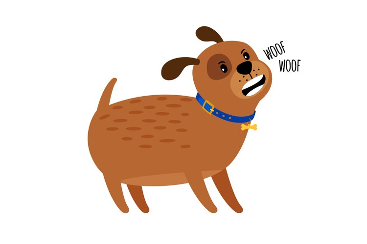 Woof woof cute puppy dog example image 1