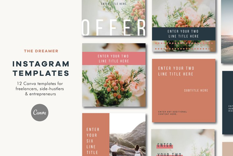 Instagram Templates | Canva | The Dreamer example image 1