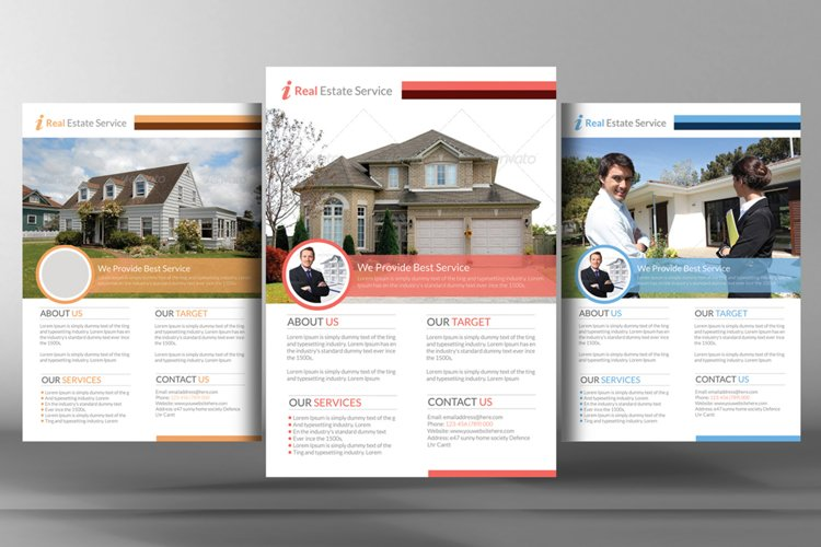 Product Showcase & Real Estate Flyers PSD Template example image 1