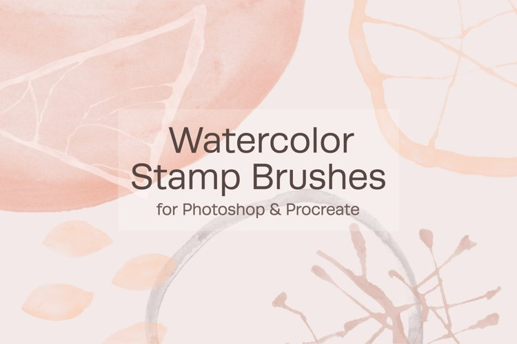 Watercolor Stamp Brushes example image 1