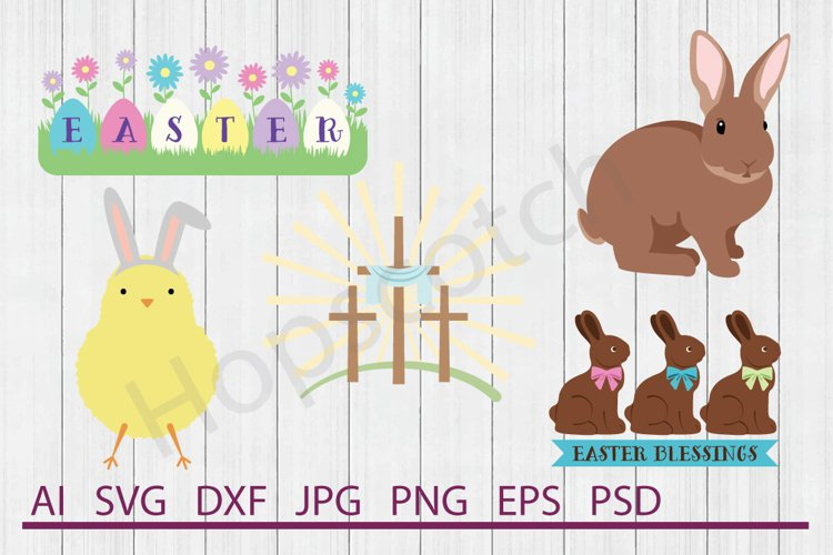 Easter SVG Bundle, DXF File, Cuttable File example image 1