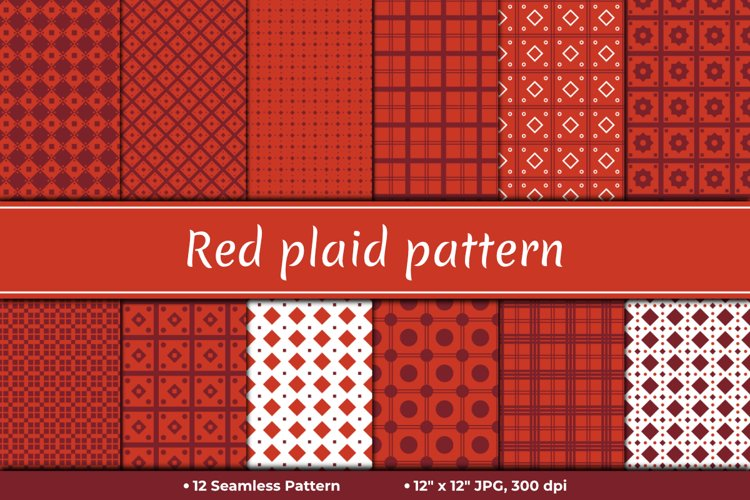 Red Plain Pattern