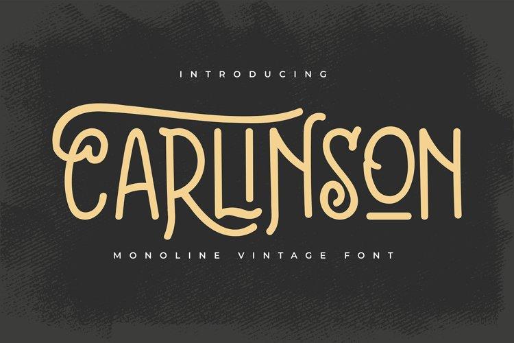 Carlinson | Monoline Vintage Font example image 1