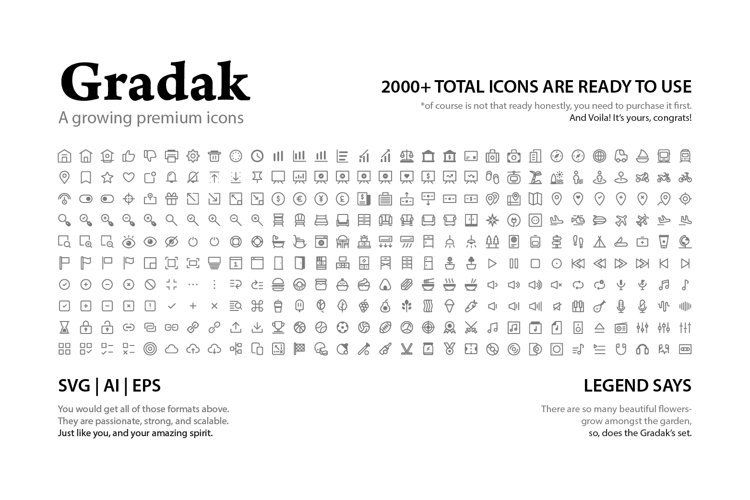 Gradak - a Growing Premium Icons example image 1