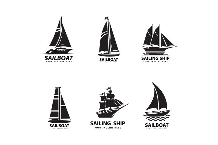 sailboat and ship logo design example image 1