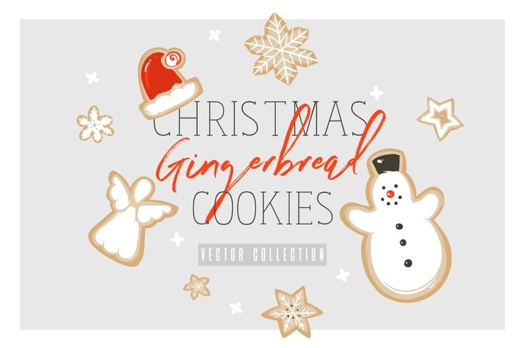 Christmas cookies vector collection example image 1