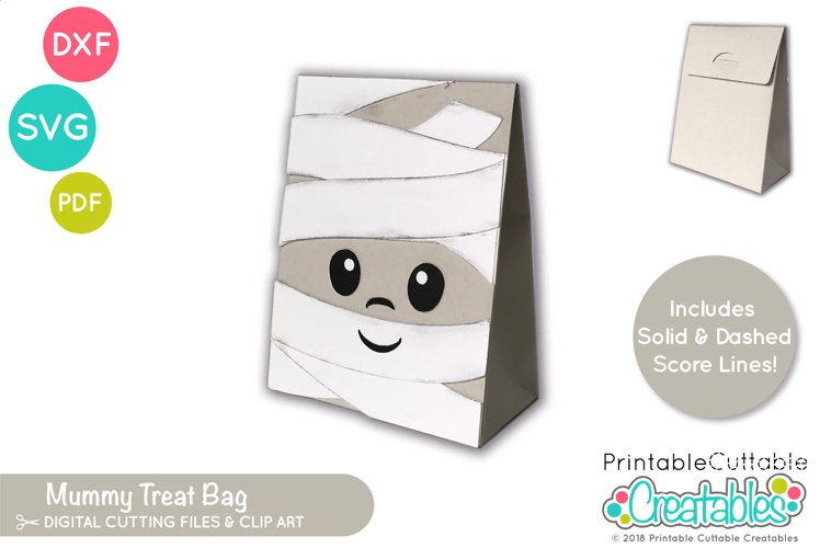 Halloween Treat Holder SVG |Mummy Treat Bag SVG