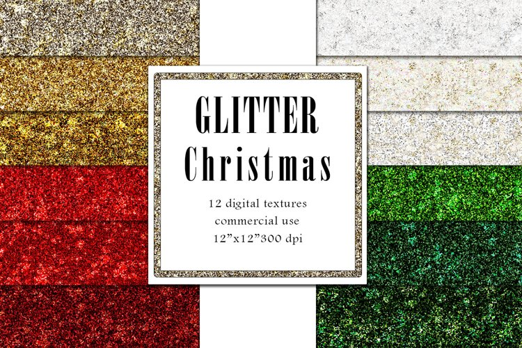 Glitter Christmas Textures, Sparkle Background example image 1