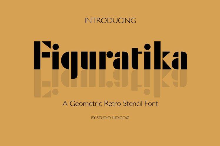 Geometrika an Art Deco Stencil Font example image 1
