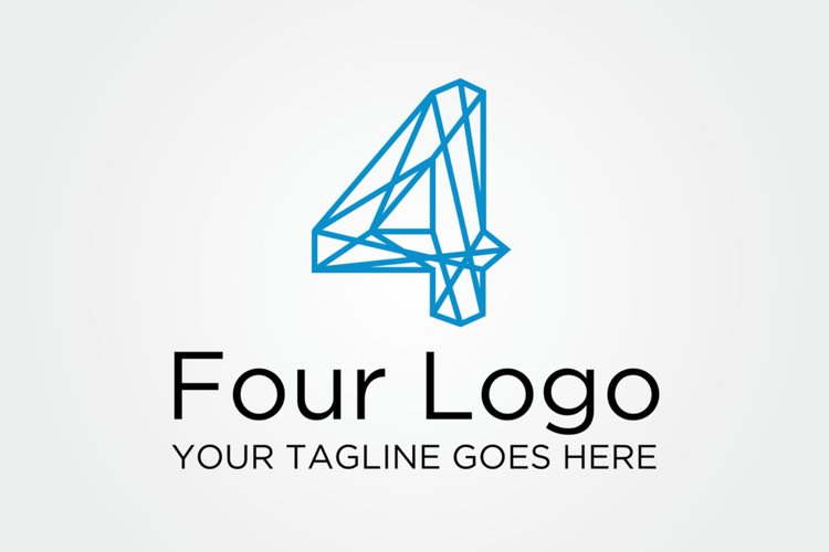 Four 4 Logo example image 1