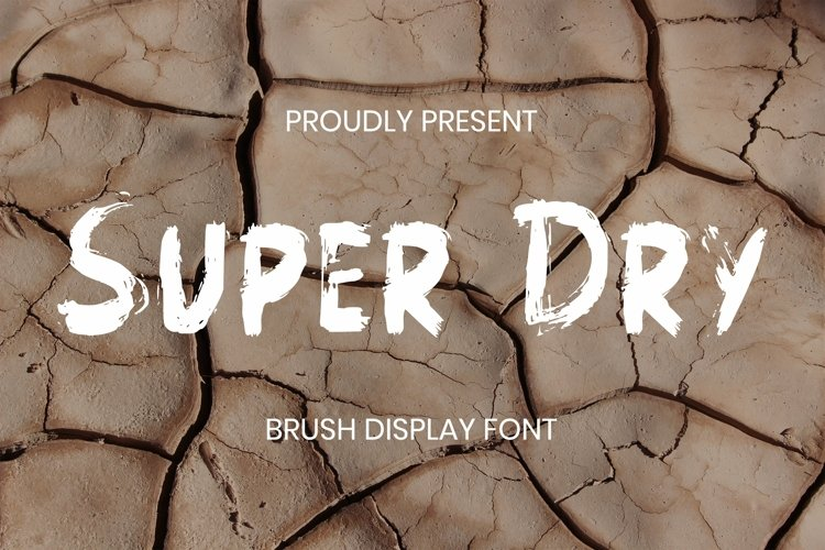 Web Font Super Dry Font example image 1