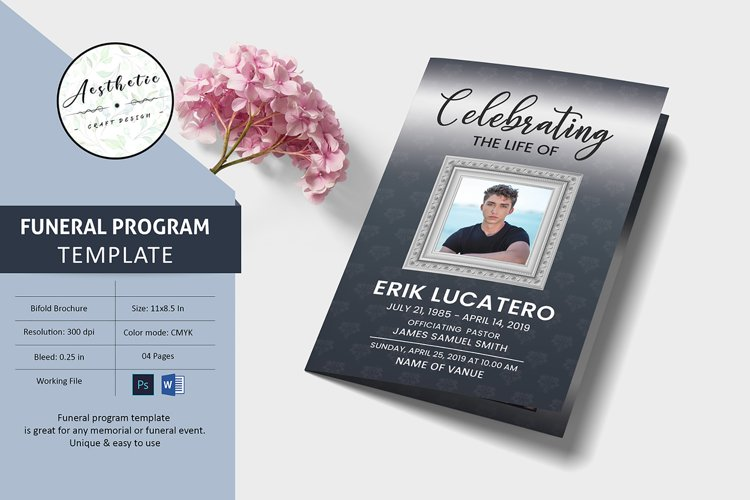 Funeral program template example image 1