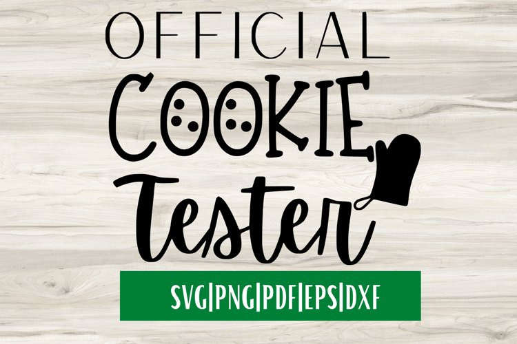 Official Cookie Tester SVG| Christmas SVG example image 1