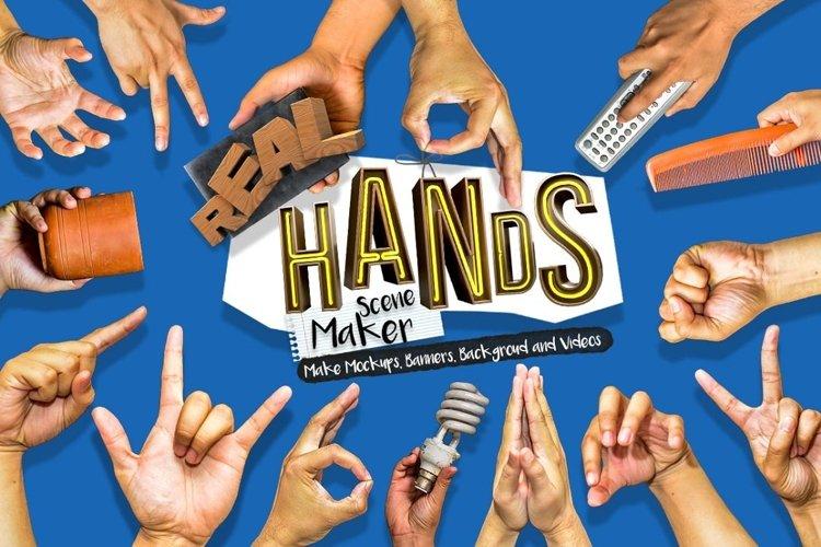 Hands Scene Creator - Free Design of The Week Font