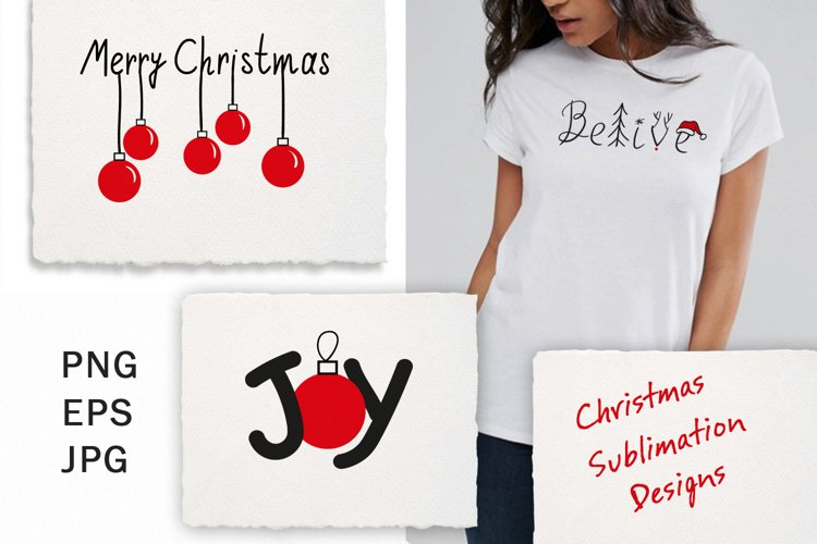 Christmas Sublimation Designs Downloads Png Eps example image 1