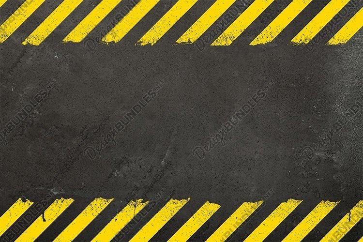 Concrete Background with Grunge Hazard Sign