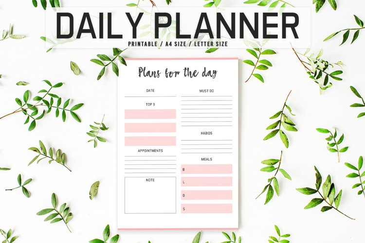 Colorful Daily Planner Printable example image 1
