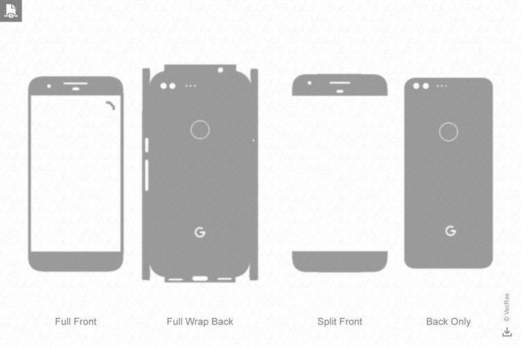 Google Pixel Skin Vector Cut File Template 2016