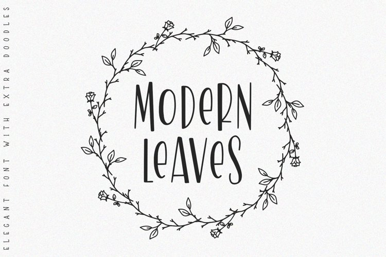 Modern Leaves -with doodles- example image 1