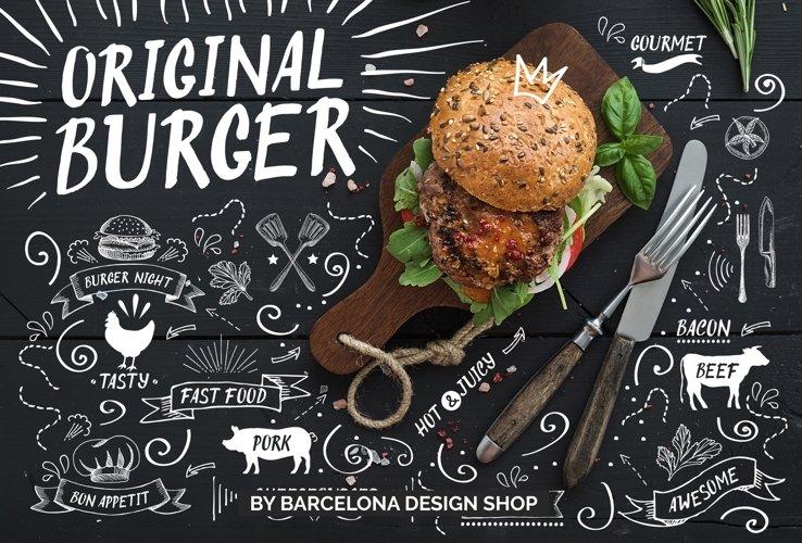 Original Burger Font example image 1