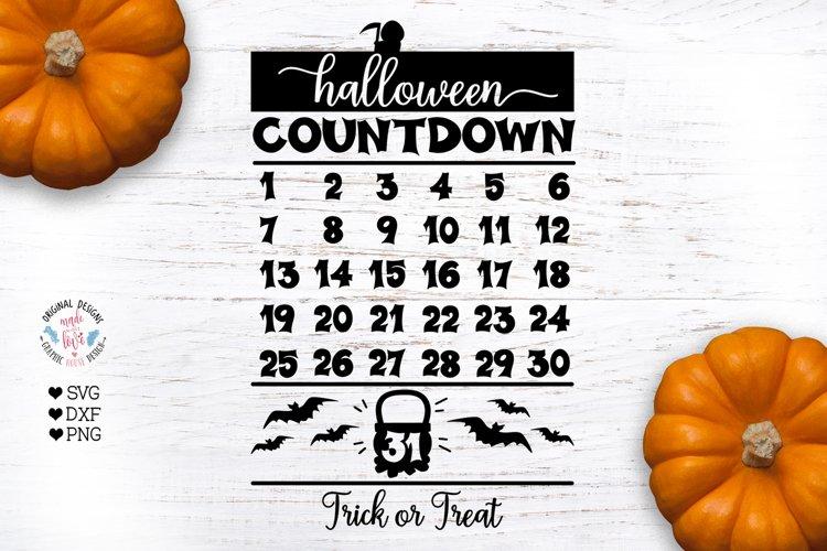 Halloween Cut File - Halloween Countdown example image 1