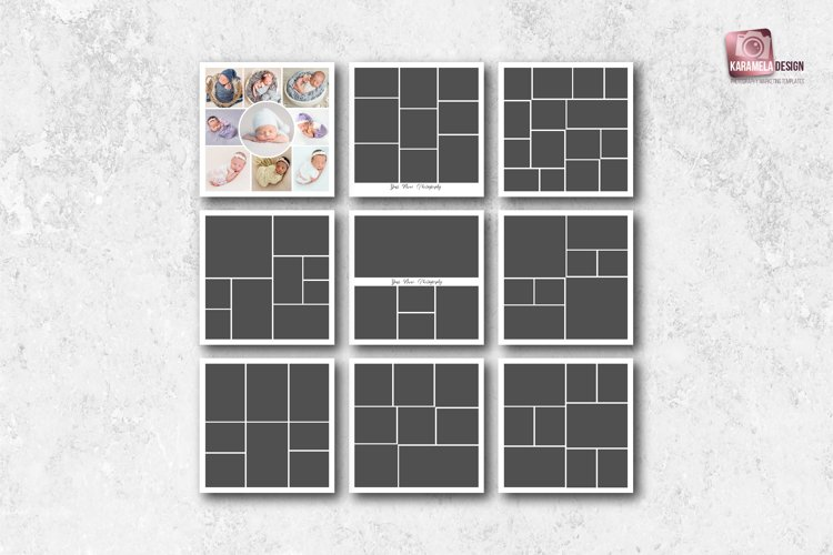 12 x 12 Photo Collage Templates