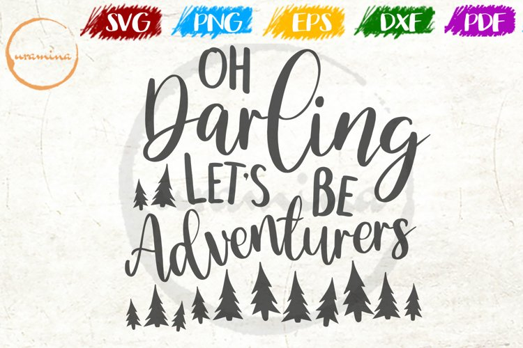 Oh Darling Let's Love Couple Anniversary Quote Art example image 1