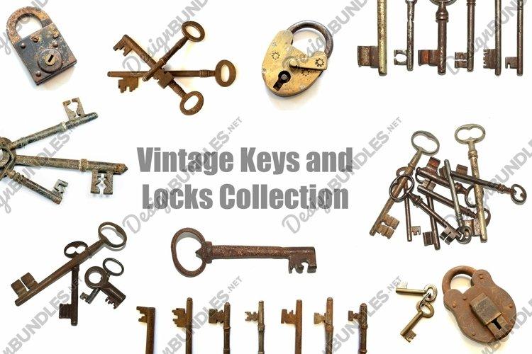 60 Vintage Antique Keys and Locks Steampunk Photographs JPG