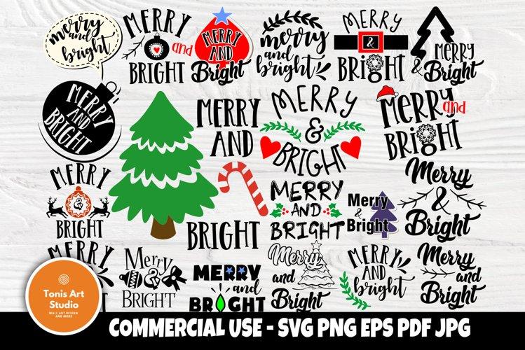 Merry and Bright SVG Bundle, Christmas Svg, Christmas Shirts