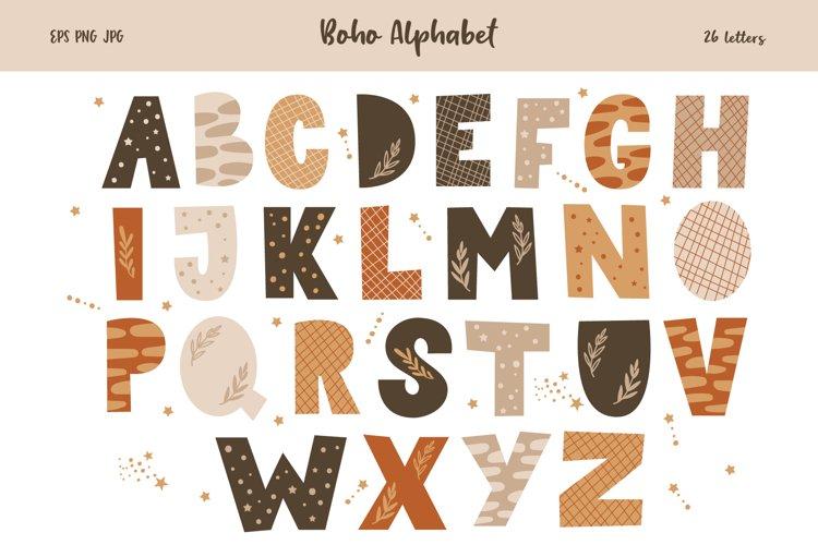 Alphabet Set, Boho Animal Letter Clipart, SVG, PNG, EPS example image 1