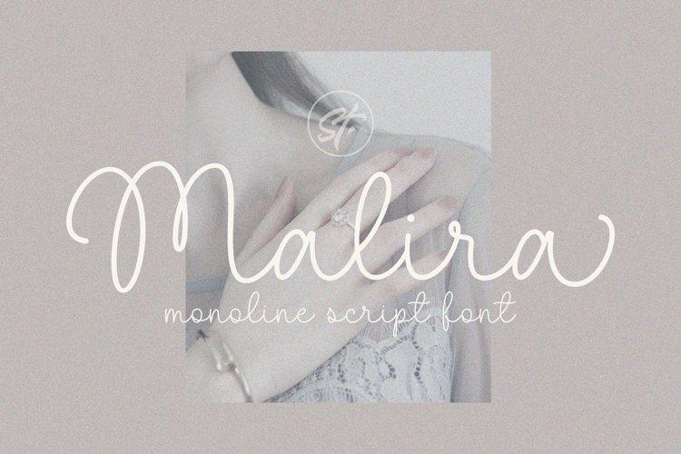 Malira - Monoline Font example image 1