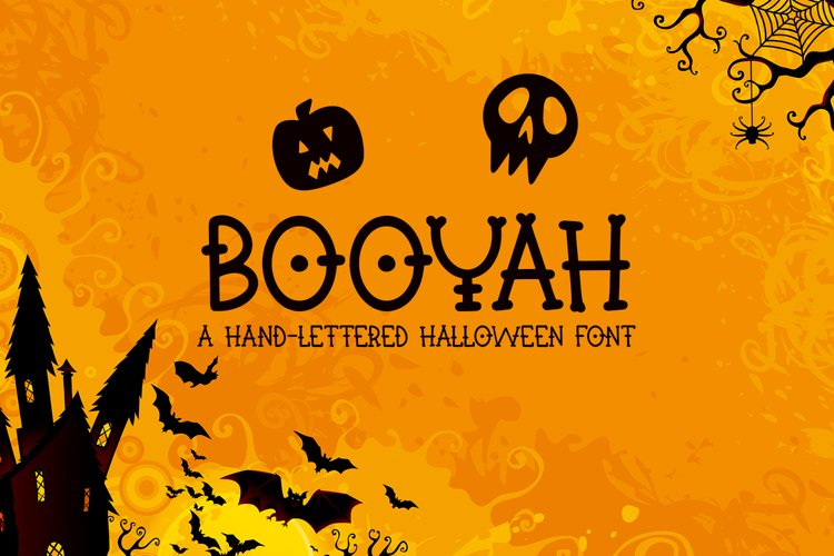 Booyah - A Hand-Lettered Halloween Font example image 1