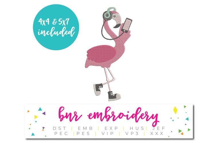 Flamingo Machine Embroidery Design example image 1