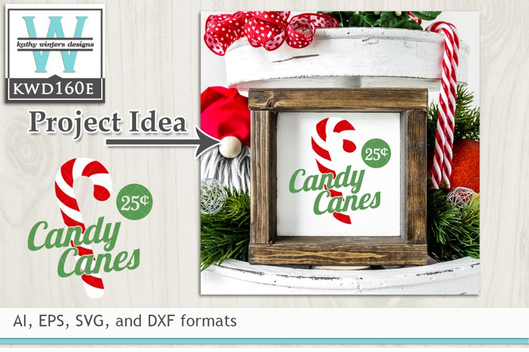 Christmas SVG - Candy Canes example image 1