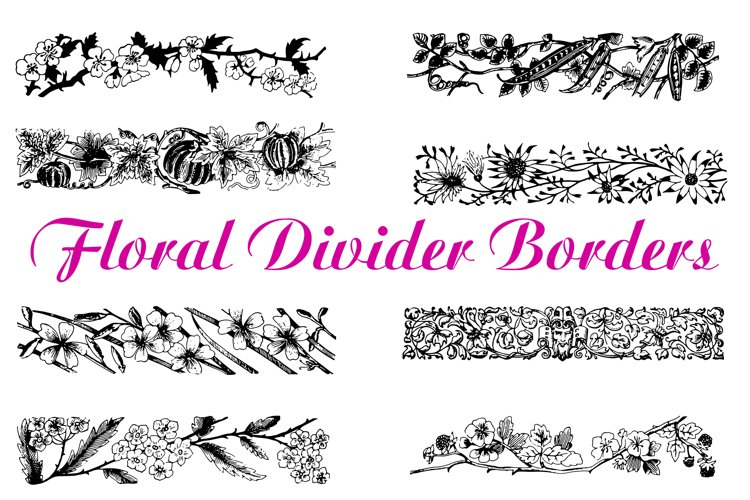 74 Woodcut Vintage Floral and Garden Illustration Collection