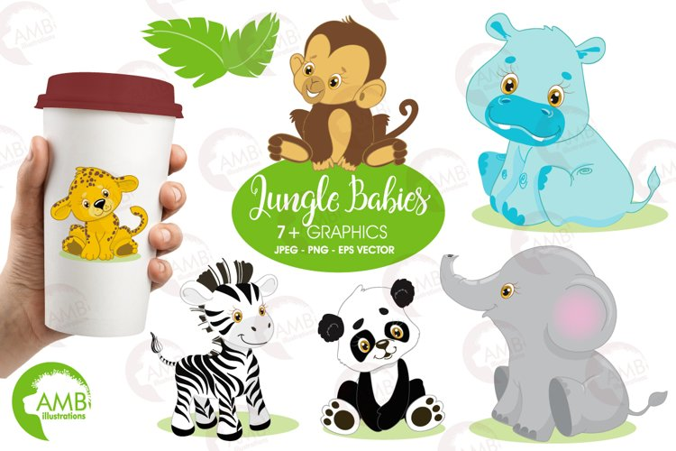 Jungle Babies clipart, graphics and illustration AMB-131 example image 1
